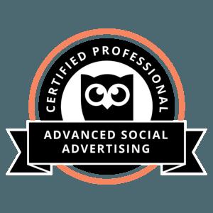 Sebastian Bellé ist zertifiziert im Social Advertising
